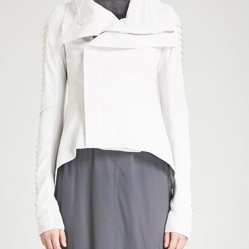 RICK OWENS Asymmetric leather biker jacket