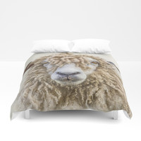 Leicester Longwool Sheep Duvet Cover by Linsey Williams Wall Art, Clothing, And