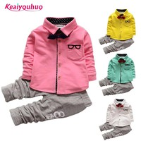 Children Boys Clothes Sets 2018 Spring Kids Clothes for Boys Gentleman t-shirt +Pants 2 Pcs baby Boys Toddler Suit 1 2 3 4 years