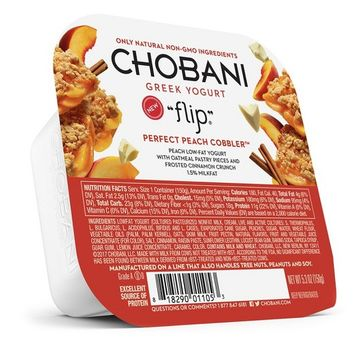 Chobani Flip® Peach Low-Fat Greek Yogurt - 5.3oz