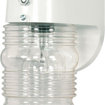 "8"" Outdoor Wall Light, Porch Light Clear Mason Jar"