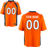 KUYOU Denver Broncos Jersey - Men's Orange Custom Game Jersey