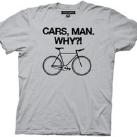 Portlandia Cars, Man. Why?! Slim Fit Adult Tee