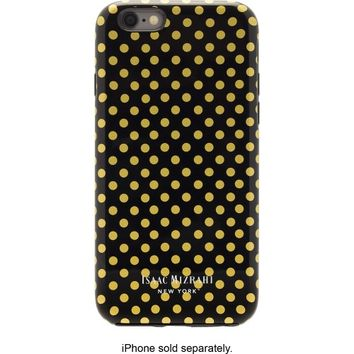 Isaac Mizrahi New York - Hard Shell Case for Apple° iPhone° 6 and 6s - Black/Gold