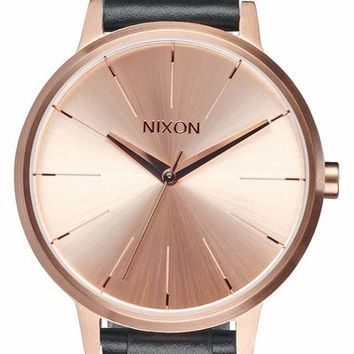 Nixon 'The Kensington' Leather Strap Watch, 37mm | Nordstrom