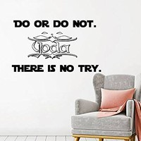 Star Wars Wall Decals - Yoda Wall Decals Quote - Quote Wall Decor - Star Wars Wall Sticker - Star Wars - Quote Star Wars Nursery - Art Vinyl Sticker - Boys Wall Room - Nursery Wall Decor MN909