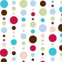 Red Dot Line  Fabric By The Yard | 100% Cotton