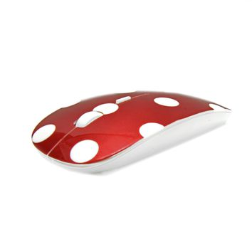 Polka Dot Design Red USB Optical Wireless Mouse for Macbook (pro , air) and All Laptop