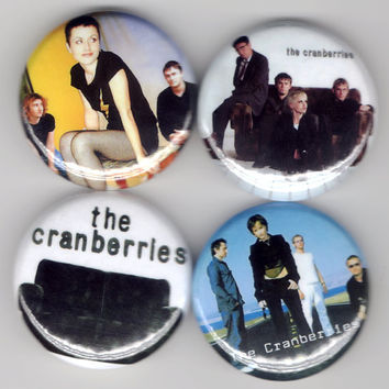 The Cranberries - Set of 4 - Dolores O'Riordan No Need To Argue Alternative Folk Rock Buttons Pins Badges Pinback