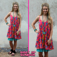 Prickly Pear Cactus Dress in Pink