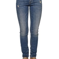 Low Rise Skinny Jeans - Womens Jeans - Blue
