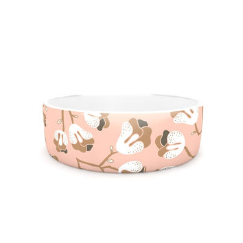 """Very Sarie """"Hope for the Flowers III"""" Pink White Pet Bowl"""