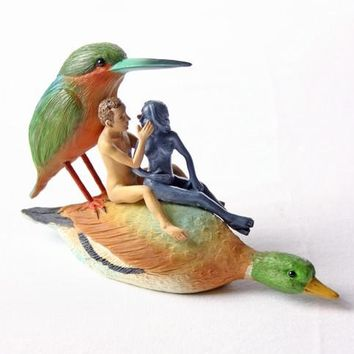 Couple on a Duck Seduction Sin Statue by Bosch 5.9W