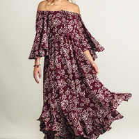 Jessie Boho Bell Sleeve Maxi Dress