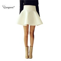 Saias Curtas Spring Summer Autumn Plus Size Women Tutu Skirts White Vintage High Waist Flared Puff Mini Skater Ball Skirt WQB314