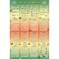 (24x36) The Art of Rolling Joints Pot Marijuana Art Print Poster