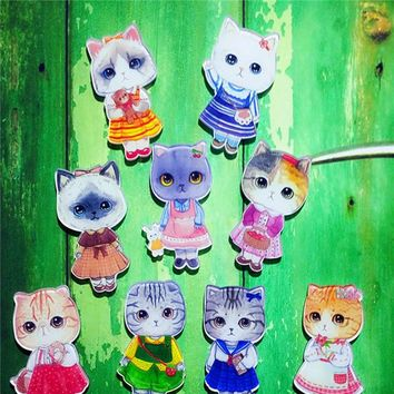 1PCS Free Shipping Harajuku Kawaii Cat Brooches Pins Badge Backpack Decoration Badges Clothes Badge Brooch Icon