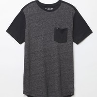 Hurley Oscar Pocket Front Drop T-Shirt - Mens Tee - Black
