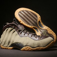 [Free Shipping]Air Foamposite One Prm Olive Green Sneaker