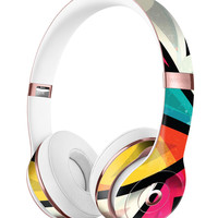 Retro Vector Sharp Shapes Full-Body Skin Kit for the Beats by Dre Solo 3 Wireless Headphones