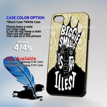 Biggie Smalls Is the Illest, Photo On Hard Plastic iPhone 4 4S Case