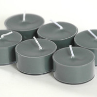Unscented Soy Tea Light Candles Colored Gray (6 tealights)