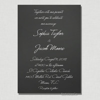 Black and White Elegance - Chalkboard Calligraphy - DIY Printable Invitation