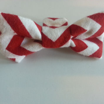 Dapper Doggie Bow Tie, Chevron