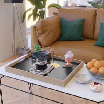 yellow point Serving Tray by netzauge