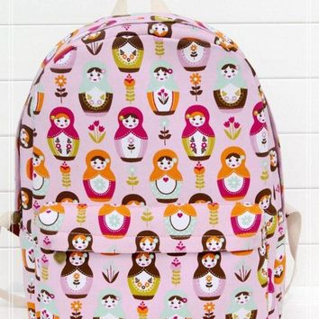 Cute Dolls Canvas Lovely Backpack = 4887577924