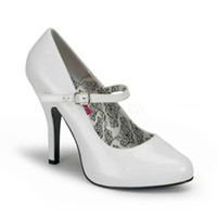 White Tempt Mary Jane Shoes
