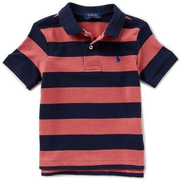 Ralph Lauren Childrenswear Little Boys 2T-7 Short-Sleeve Rugby-Stripe Polo Shirt | Dillards