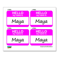 Maya Hello My Name Is - Sheet of 4 Stickers