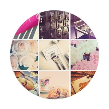 Custom Instagram Photo Collage 7 Inch Paper Plate