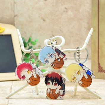 H006 Kuroko no Basket acrylic Keychain Pendant Car Key Chain Key Accessories Cute Japanese Cartoon Collection LTX1