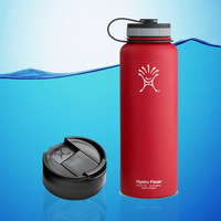 Hydro Flask 40 Oz Insulated Stainless Steel Water Bottle Red + Hydro Flip Cap
