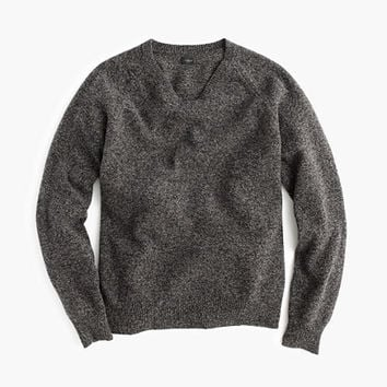 J.Crew Mens Tall Marled Lambswool V-Neck Sweater