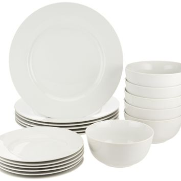 AmazonBasics 18-Piece Dinnerware Set Service for 6