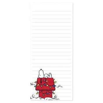 Snoopy™ Christmas House Magnetic Notepad