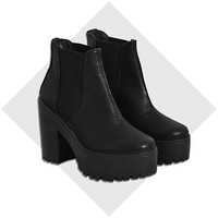 River Island Womens Black chunky platform Chelsea boots