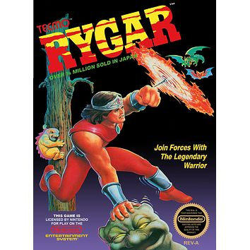 Retro Rygar Game Poster//NES Game Poster//Video Game Poster//Vintage Game Reprint