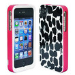 NEW 3 PIECE PRINTS SKIN GEL HARD CASE COVER FOR iPhone 4 4G 4S 4GS 4th White