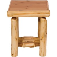 Traditional Cedar Open End Table
