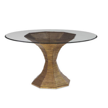 Bassett Mirror Thoroughly Modern Dakota Round Dining Table