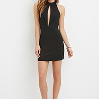 Slit-Front Mini Dress
