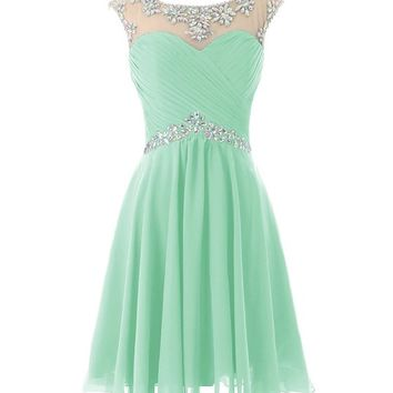 Dresstells® Short Prom Dresses Sexy Homecoming Dress for Juniors Birthday Dress Mint Size 2