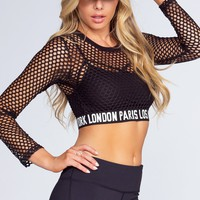 Stacia Mesh Crop Top