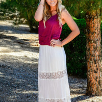 FEELING FREE MAXI SKIRT IN WHITE