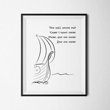 This will never end, Vikings - Printable Poster - Digital Art - Download and Print