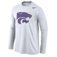 Kansas State Wildcats Nike Logo Cotton Long Sleeve T-Shirt - White